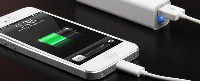 powerbank och smartphone